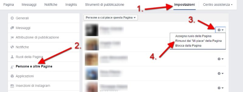 Come rimuovere fan dalla pagina Facebook