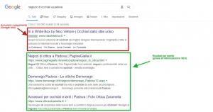 Esempio annuncio Google Ads e risultati per merito grazie a ottimizzazione SEO